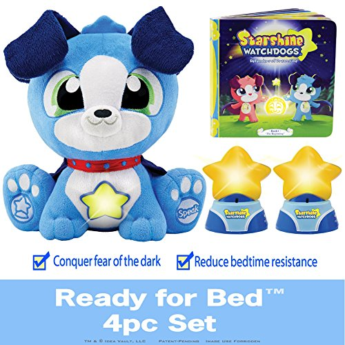 STARSHINE WATCHDOGS Talking Stuffed Animal for boys 2-7. Comforting Sleep Toy with Remote Control Kids Night Lights and Story Book - Limited Time ...