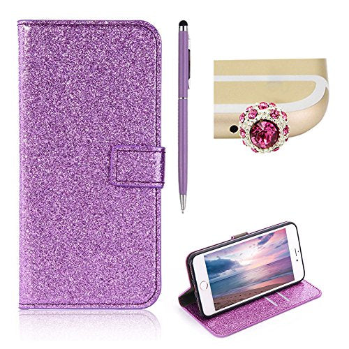 b9ee778e47ba For iPhone 6S Plus Glitter Wallet Case,SKYXD Luxury Bling Sparkle PU  Leather Flip Folio Magnetic Closure Protective Bumper Case Cover for iPhone  6 ...