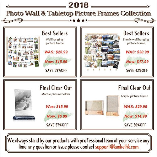 Love-KANKEI Wall Hanging Picture Photo Frames 26 by 29 Inch with 30 ...