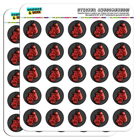 "Boxing Gloves Boxer 1"" Planner Calendar Scrapbooking Crafting Stickers - Clear"