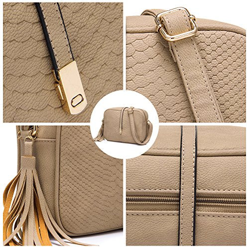 5d68594283e3 Realer Small Shoulder Bags PU Leather Side Purse Cross Body for Women