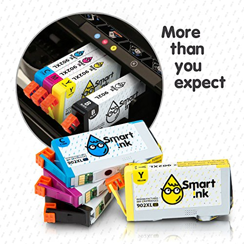 Smart Ink Remanufactured Ink Cartridge Replacement for HP 902 XL 902XL High  Yield 4 Pack (Black & C/M/Y) Ink Cartridges High Capacity for HP OfficeJet