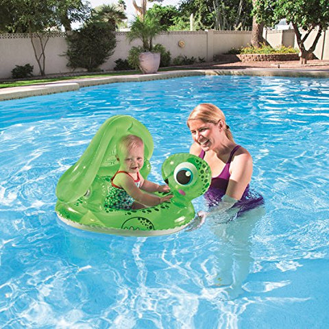 H2OGO! Floating Turtle Baby Care Seat Inflatable Pool Float