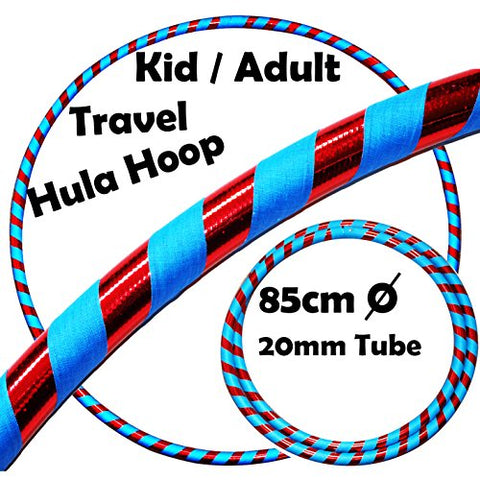 KID's HULA HOOPS - Quality Weighted Children's Hula Hoops! Great For Exercise, Dance, Fitness & FUN! NO Instructions needed! Same Day Dispatch! (UV Blue / Red Glitter)