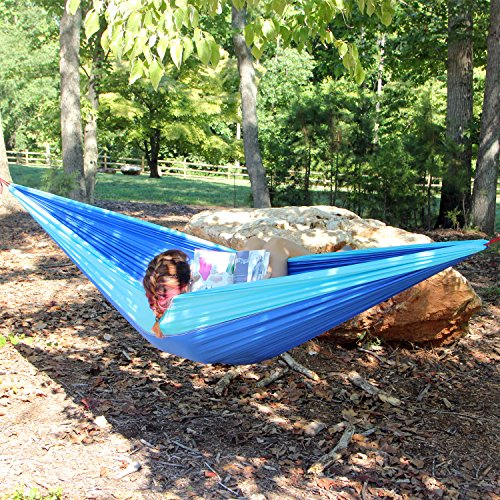 Flying HAWK XL Double Parachute Camping Hammock - Premium Quality Portable  Outdoor Hiking Ultralight Camping Double Hammocks - Heavy Duty Weather