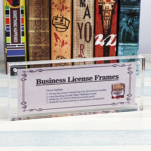4x10 Business License Frame, Clear Acrylic Panoramic Photograph ...