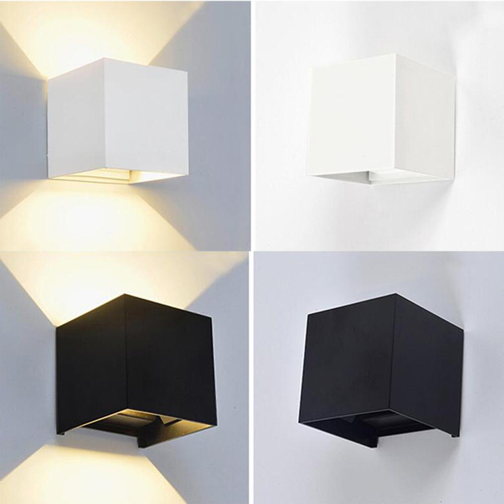 6w dimmable led wall lamp luminaire pared lamparas wall sconce bedroom rail project square bedside room bedroom wall light arts