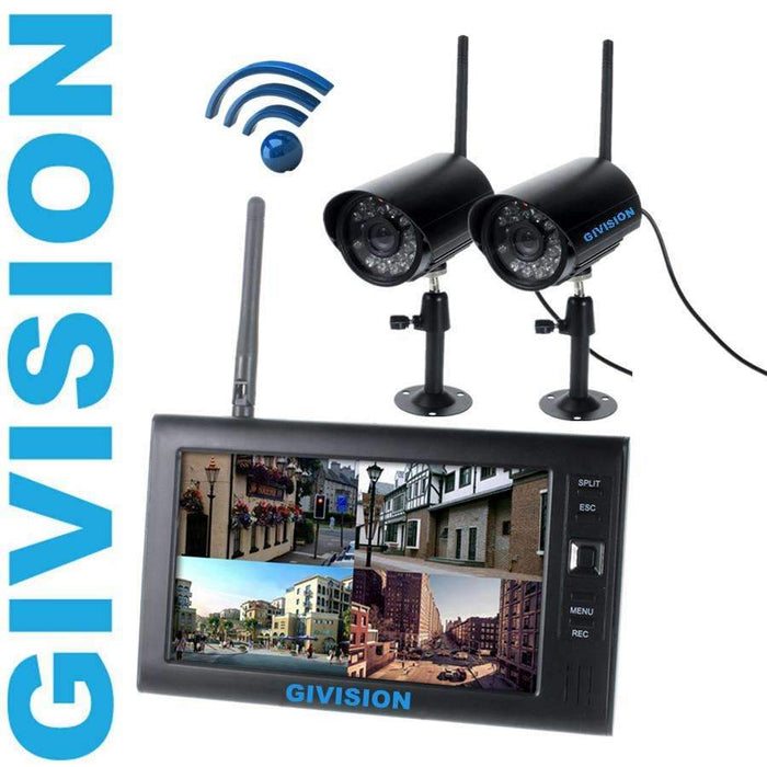 7 inch Digital 2 4G Wireless Camera Video Baby Monitors DVR home Security  cameras System motion detection sd TF Card