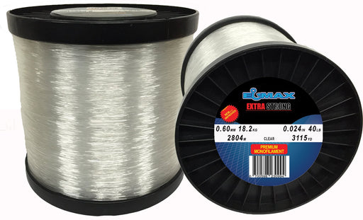 Monofilament Fishing Line Clear Elmax 2lb Bulk Spool