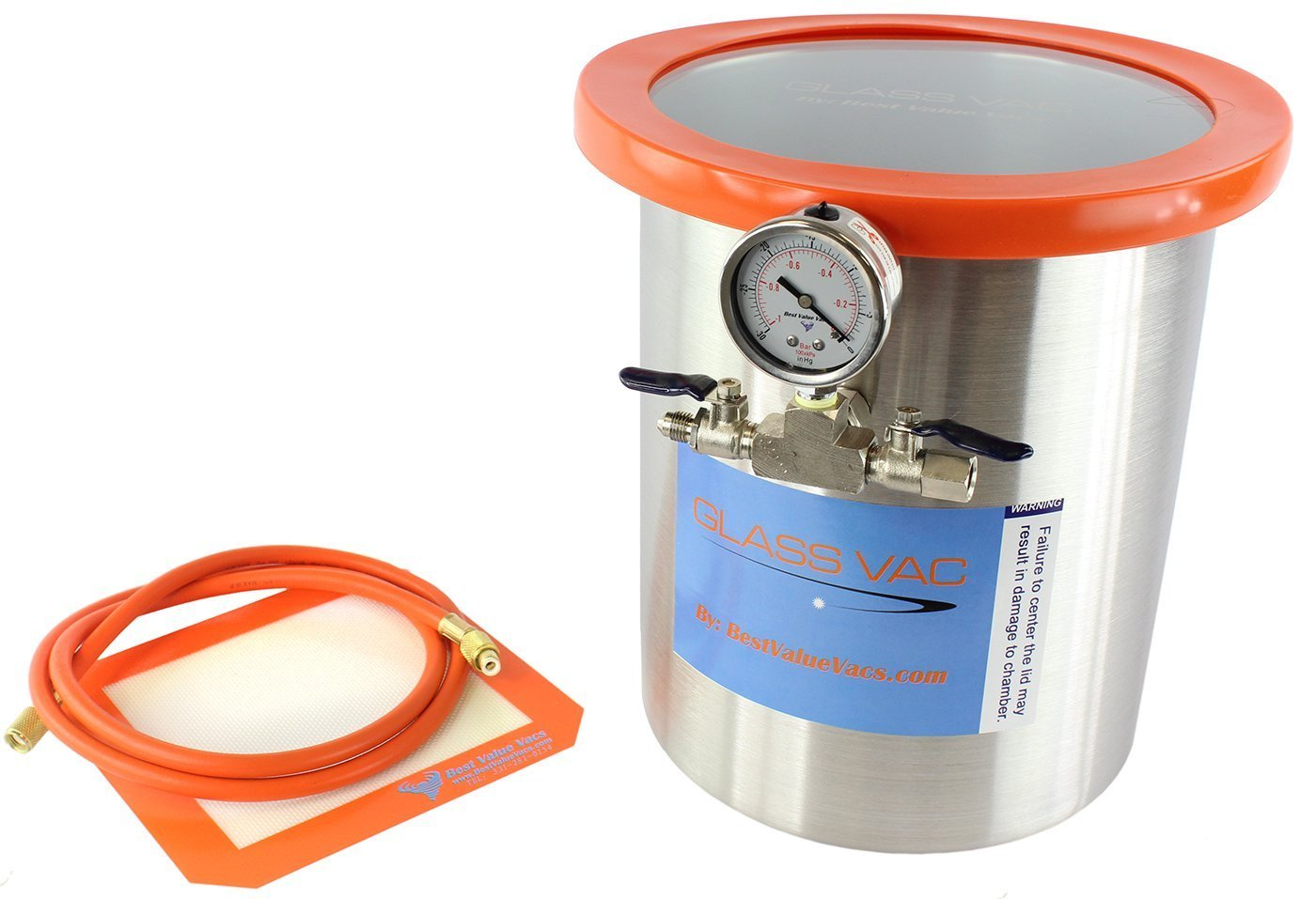 Glass Vac 3 Gallon Stainless Steel Vacuum Chamber And Bvv130 3cfm