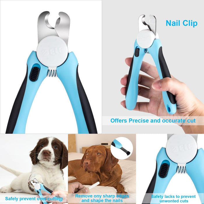 YKHS Pet Beauty Tool, Pet Cleaning Tool, Pet Care Kit , Pet Hair Removal  Care, Pet 5 Sets of Professional Dog beauty box, Pet Comb, Pet nail  Clipper,