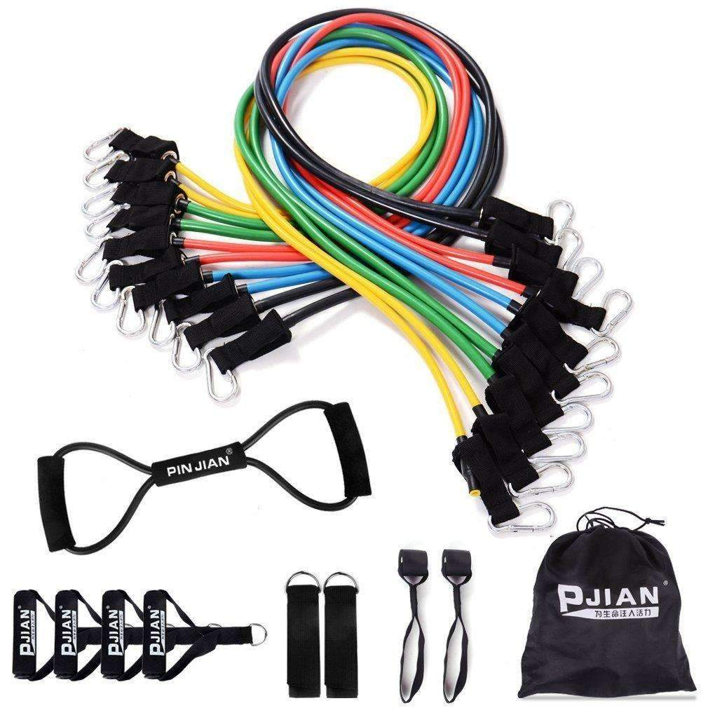 Pinjian Ultimate Resistance Band Set With Heavy Duty Rubber Body Gym Ankle Strap Bands Bandsdoor Anchors