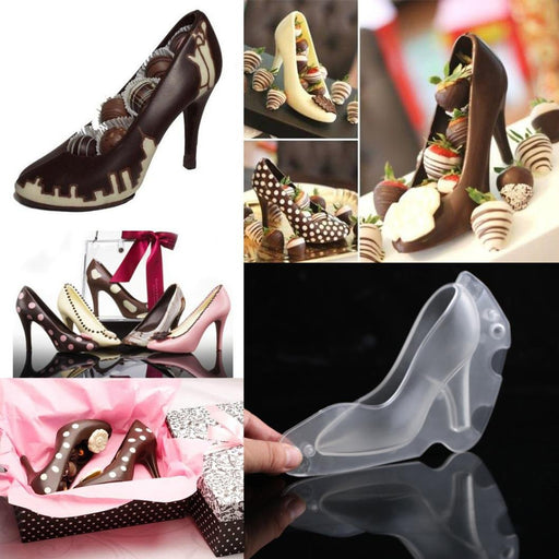 YRD TECH D High Heel Shoe Chocolate Mould Candy Cake Jelly Mold Wedding Decorating DIY (Clear)