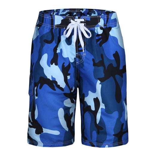 LJCCQ Men's Swim Trunks Quick Dry Camo Board Shorts Daily Beach Shorts With Pockets