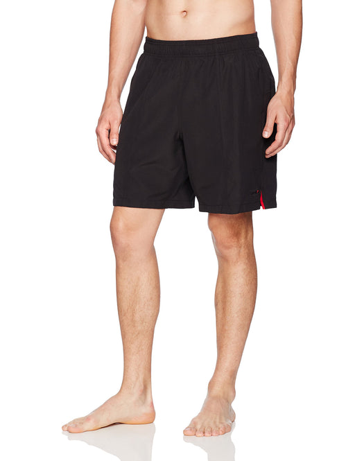 Speedo Men's Solid Rally Volley 19 Inch Workout & Swim Trunks,Large,Black