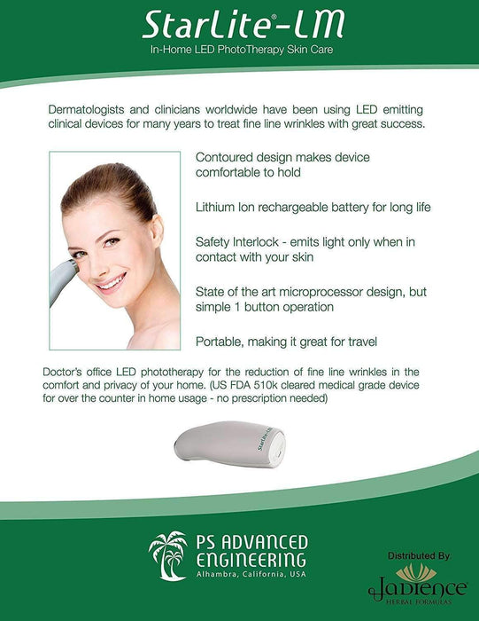 Anti-Aging Facial Skin Tightening Device   In-Home FDA Cleared LED Infrared  Red Light Therapy for Wrinkles   Promotes Collagen Production & Elasticity