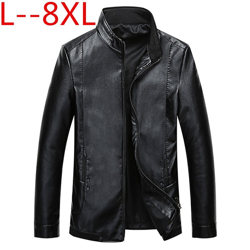 8XL 6XL Male genuine leather jacket spring and autumn slim stand collar short design motorcycle sheepskin jacket men outerwear