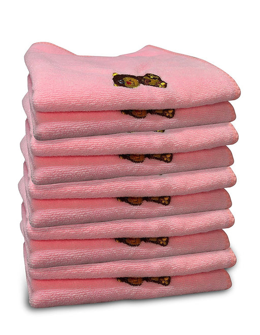 Jet Storm Baby Bibs and Burp Cloths Microfiber Towels - Pink (10 Pack)