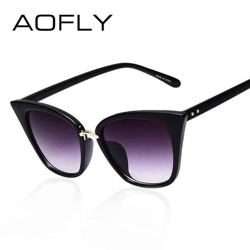 AOFLY Cat Eye Sun glasses for Women Brand Designer Sunglasses Oval Frame Glasses Gradient Color Eyeglasses UV400 gafas de sol