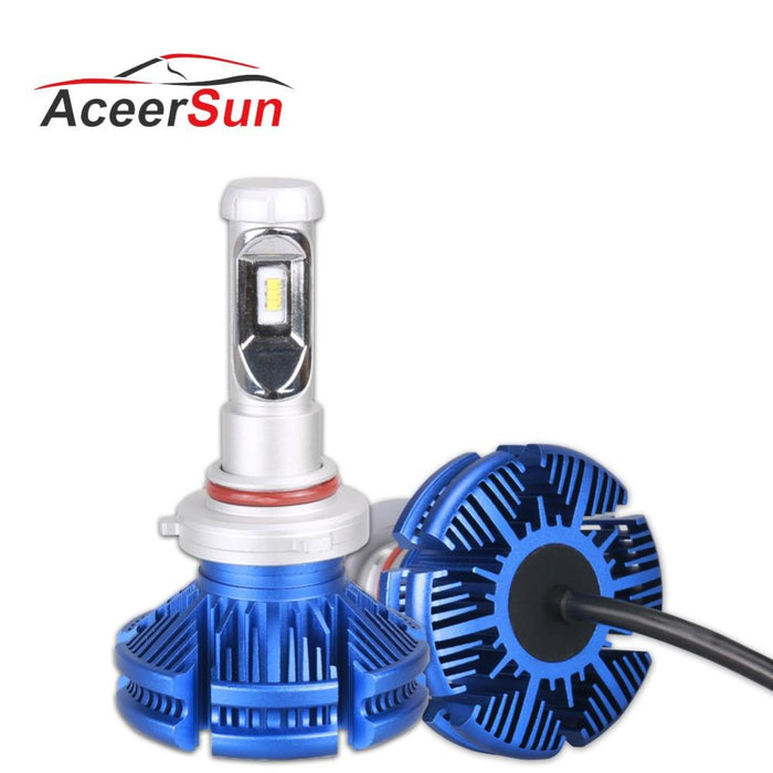 Aceersun H4 H7 LED H11 H1 ZES Chip 9005/HB3 9006/HB4 9012 H3 12000LM Car  Headlight Bulbs Fog Lights White head light 12V 24V