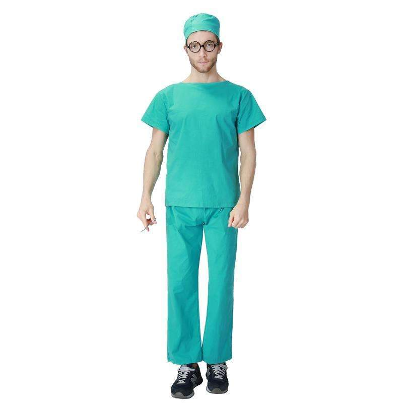 Adult Men Hospital Doctor Costume Medical Clothes Suit Dental Nurse Scrubs Surgical Uniform For Men  sc 1 st  KeeboShop & Adult Men Hospital Doctor Costume Medical Clothes Suit Dental Nurse ...