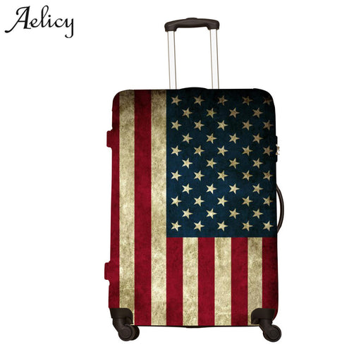 Aelicy High Quality Printing Travel on Road Luggage Cover Protective Suitcase Cover Trolley case Travel Luggage Dust Cover
