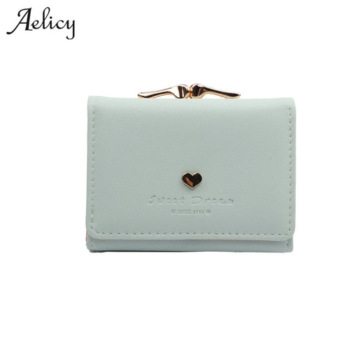 Aelicy New Designer Heart Cute Small Wallet Female Vintage Lady Mini Clutch Coin Purse Card Holder Pocket Girl Short Wallets