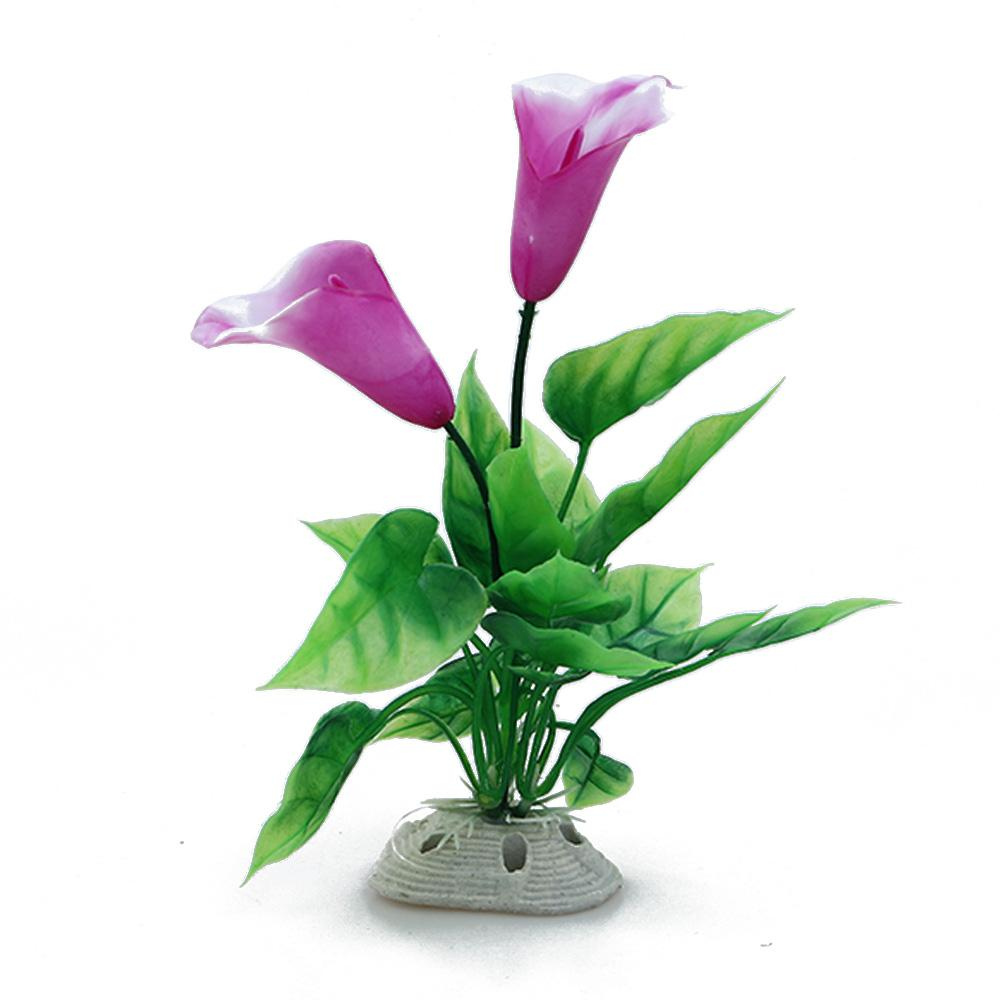 Artificial Plastic Calla And Lotus Flower Plant Simulation Water