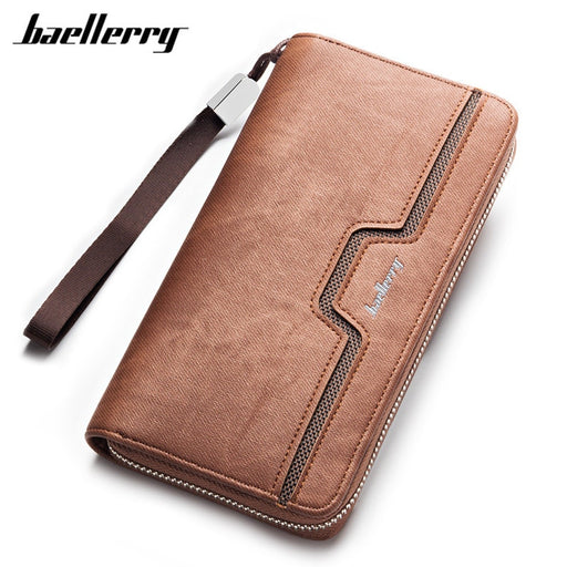 BAELLERRY Men Wallets Men Purse Clutch Bag PU Long Wallet Phone Holder Card Holders Carteira Masculina Best Gift For Cellphone