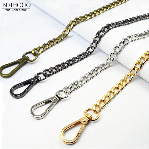 BDTHOOO 10pcs 120cm Replacement Metal Handbag Chain Shoulder Strap for DIY Made Bag Handle Buckle Clasp Bag Hardware Accessories
