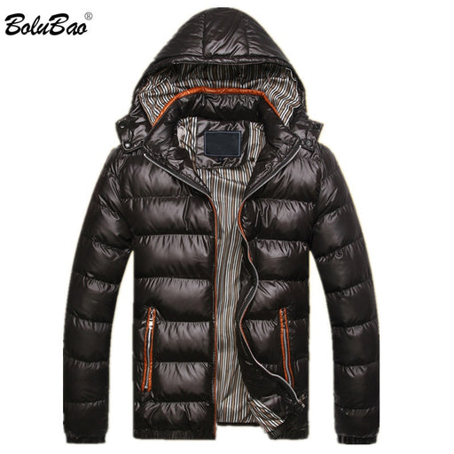 BOLUBAO 2018 New Winter Men Jacket Fashion Thermal Down Cotton Parkas Male Jackets Casual Hooded Brand Warm Coat Mens