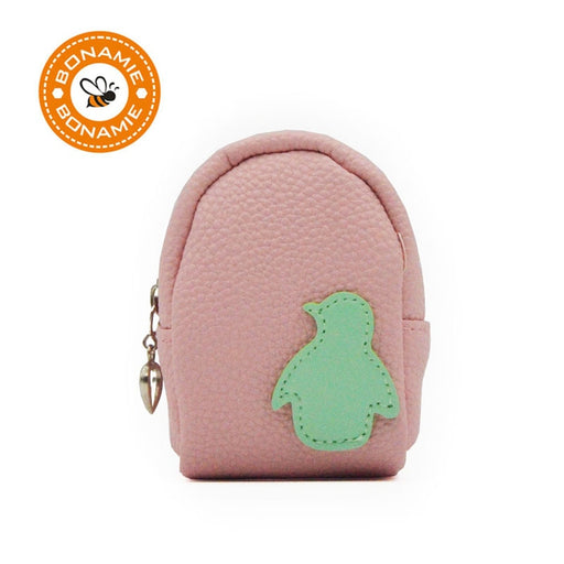 BONAMIE Kids Cute Dolphin Star Penguin Coin Purse Mini Girl Female Coin  Wallet Keychain Leather Multifunction Dolphin Car Bag