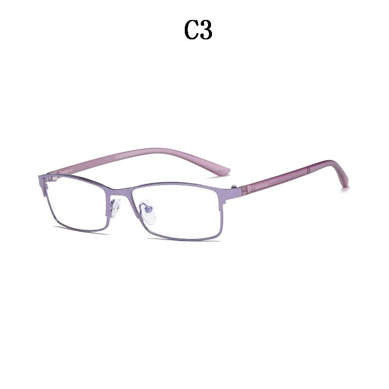 BOYSEEN Metal Eyeglasses Frame Fashion Half Rim Computer Clear ...