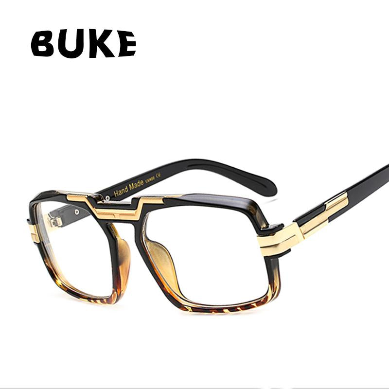 6237b82c6d BUKE 4 Colors Women Glasses Frame Brand Designer Fashion Men Square Frame  Clear Lens Eyeglasses