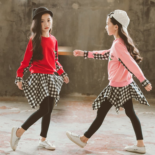 Baby Girls Spring /Autumn Set 2018 New Children's Wear Big Boy Autumn Korean Girls Casual Cute Two-piece Set Baby Girl Clothes