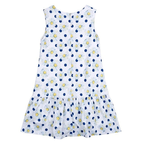 Babys Girls Summer Daisy Print Daisy Dot Dress