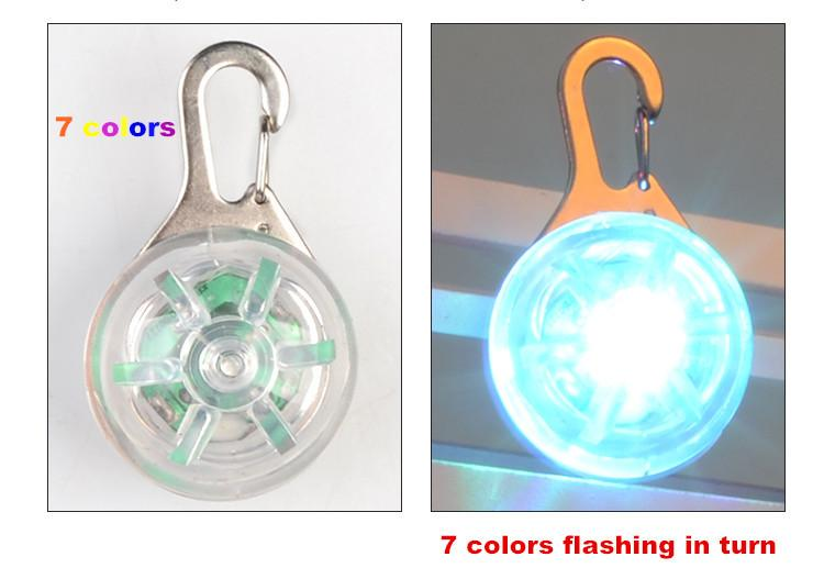 Bajila Pet Night Safety LED Flashlight Push Button Switch Glow In The Dark  Bright Pets Supplies Accessories Cat Dog Collar Light