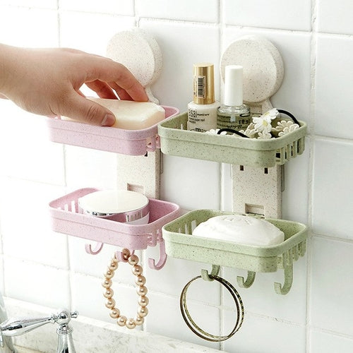 Bathroom Shower Soap Box Dish Storage Plate Tray