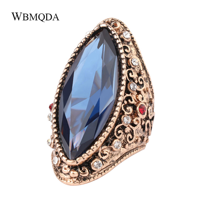 Wbmqda Vintage Big Stone Earrings For Woman Fashion Antique Gold Bridal Earings Turkey Jewelry 2018 New Arrivals Furniture
