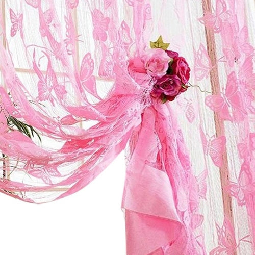 Butterfly Curtains Tulle Window Curtain Living