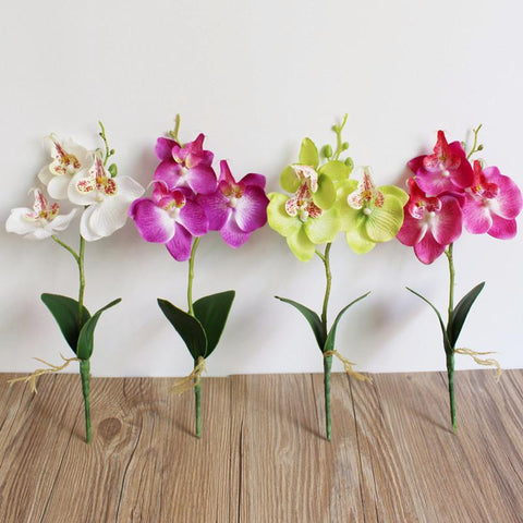 Butterfly Orchid Artificial Silk Flower Home Wedding Decor Birthday Party Bridal Floral Home Decoration Ornamental Flores #BF