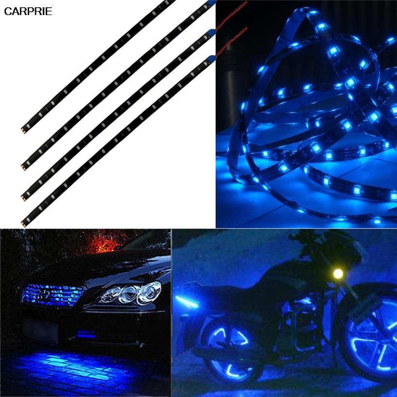 Carprie blue 4pcs 30cm15 led car light led strip motors truck carprie blue 4pcs 30cm15 led car light led strip motors truck flexible strip light aloadofball Gallery