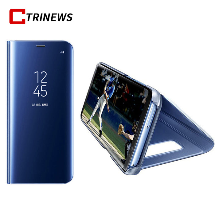 timeless design 3e2d5 33d87 CTRINEWS Mirror Case For Samsung Galaxy Note 8 S8 S8 Plus Leather Smart  Clear View Flip Stand Cover For Samsung S8 Phone Cases