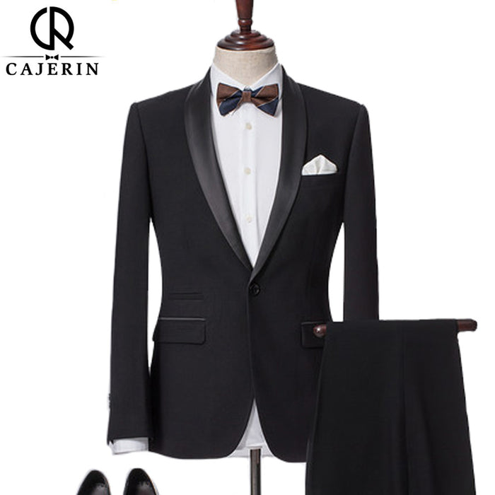 Cajerin Men Clothing Smart Casual Wedding Dress Suit Tailor Blazer