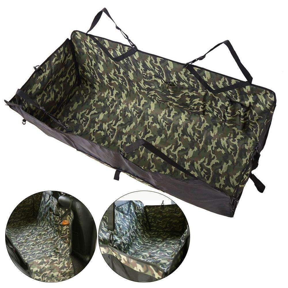 Camouflage Car Seat Cover Mat Pet Dog Carrier Basket Pad Travel Universal Waterproof