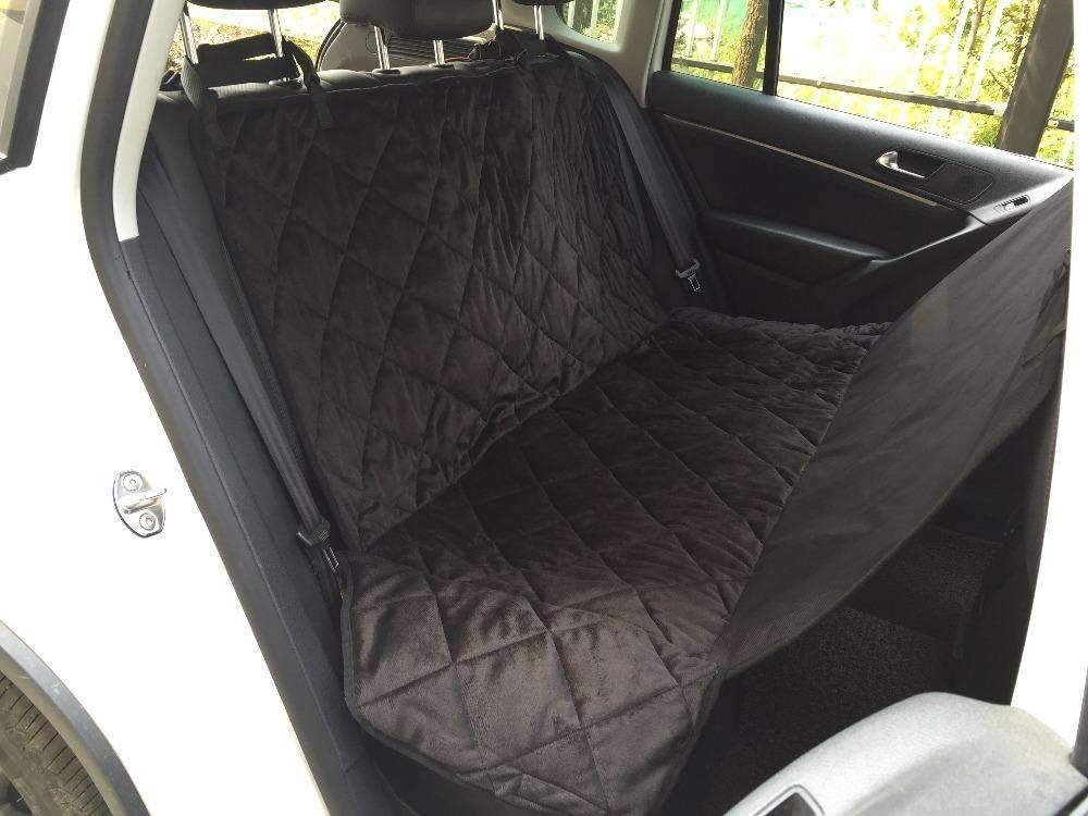 Car Boot Pet Seat Covers Waterproof Short Plush Quilted Fabric Interior Travel Accessories