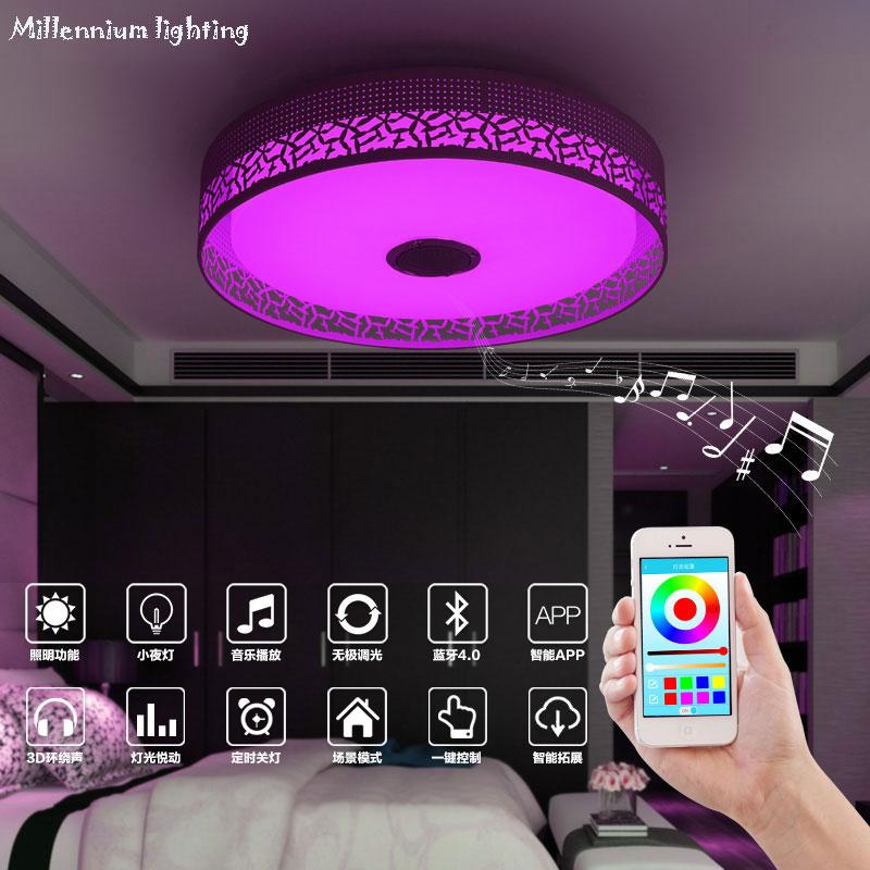 Ceiling Lights For Bedroom Mobile phone APP Remote control lighting Indoor  smart Ceiling Lamp Acryli color changing/music lamp