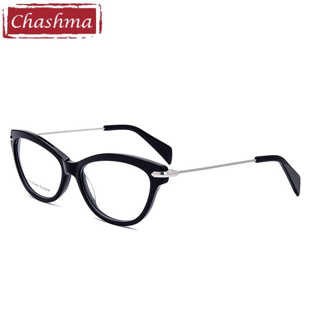 Chashma Brand Top Quality Acetate Glasses Women Cat Eye Stylish Trend