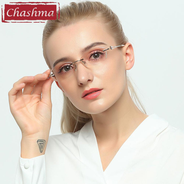 cc257a8e61 Chashma Brand Women Diamond Trimmed Tint Lenses Glasses Frame Prescription  Spectacles for Female