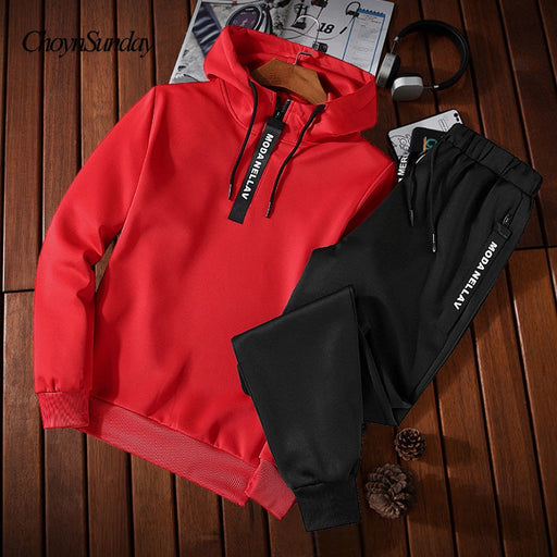 ChoynSunday Hot spring Autumn Men Tracksuit Two Piece Sets Pullover Hoodies Pants Sportwear Suit Male Hoodies plus size M-5XL